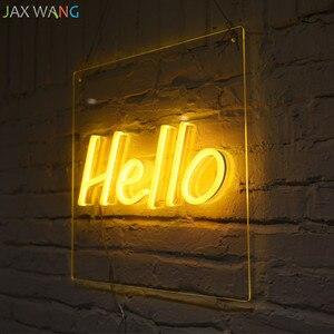 Image 3 - Led Ins requisiten lichter Bekleidungsgeschäft Studio decor neon nachtlichter rosa mädchen herzform Hallo neon decor leuchten