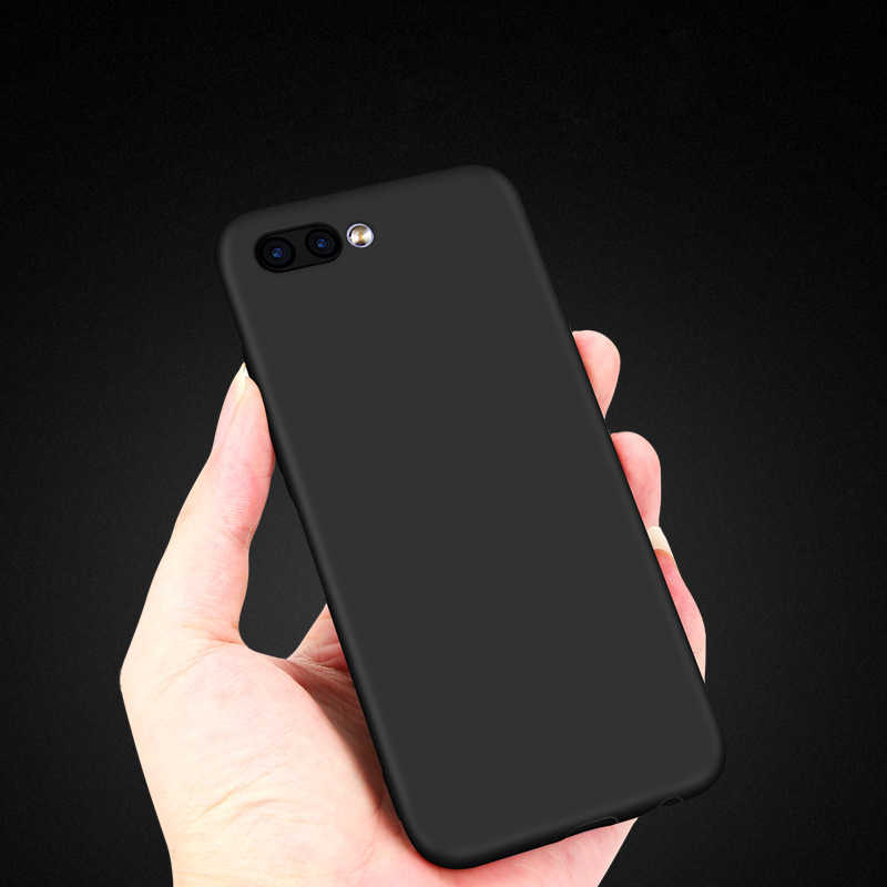 THREE-DIAO Case For Huawei Honor 8 Honor 9 Honor 10 Lite P20 lite Pro Soft solid color Back Cover Protect Skin Silicon case