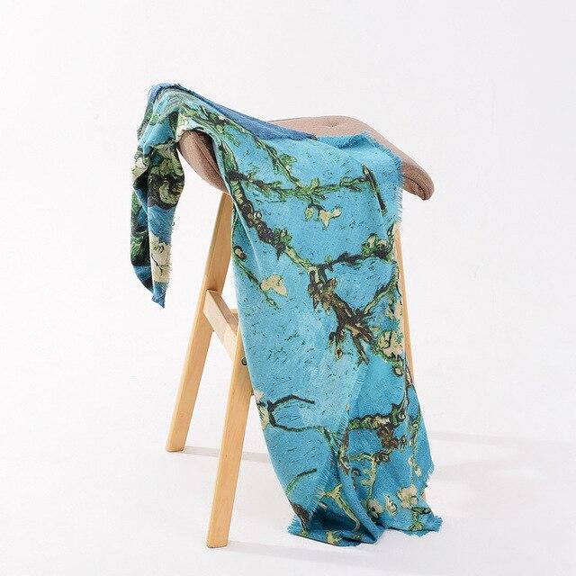 Hiver Écharpe En Cachemire Femme Chaud Super Foulard Vintage Fleur Arbre  Tête D impression Châle Wrap Foulard Couverture Carré Hijab 130 130 cm b9e4b2ebdff