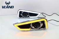 Vland производитель автомобильная лампа для противотуманных фар для Honda City дневного света с желтым поворотным светом 2014 2015 2016 DRL