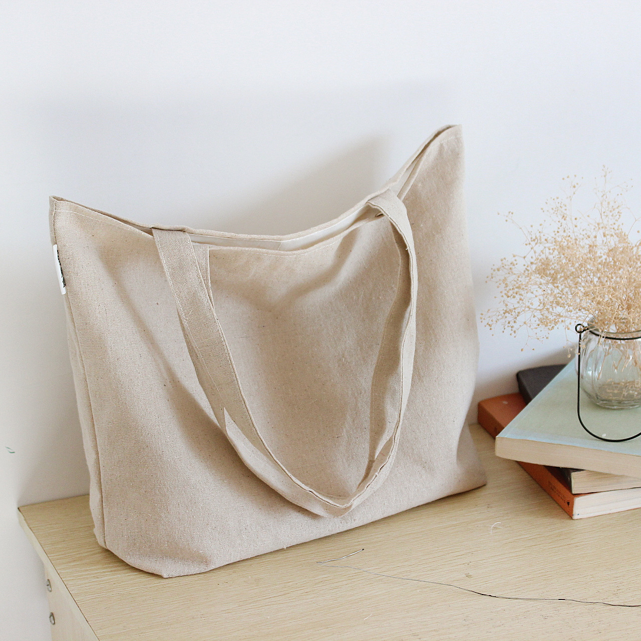 Blank Canvas Bag Plain Shoulder Bags Shopping Solid Shopper School Book Free Shipping In From Luggage On Aliexpress