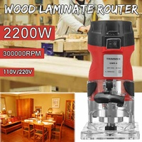 6.35mm 220V/110V 2200W Electric Hand Trimmer Wood Laminator Router Trimming Carving Milling Machine Woodworking Power Tools