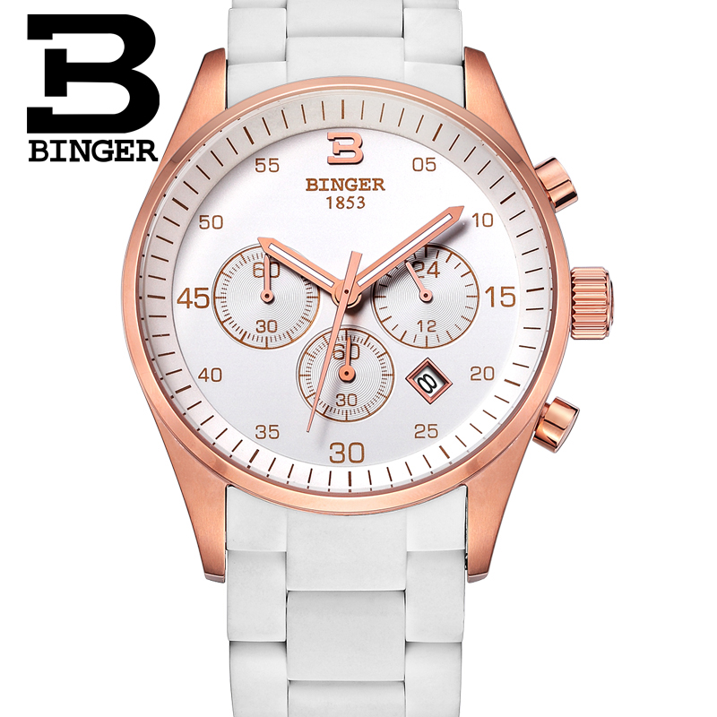 Genuine Swizerland BINGER Brand Women ladies watches female form only love fashion movement tables free shipping binger genuine gold automatic mechanical watches female form women dress fashion casual brand luxury wristwatch original box