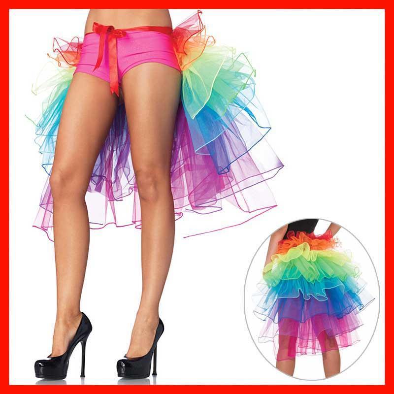 Hot Sale Women's Layered Rainbow Bustle Skirt Dance Tulle Tutu Skirt For Clubwear Carnival American Party Skirts Dance Fairy