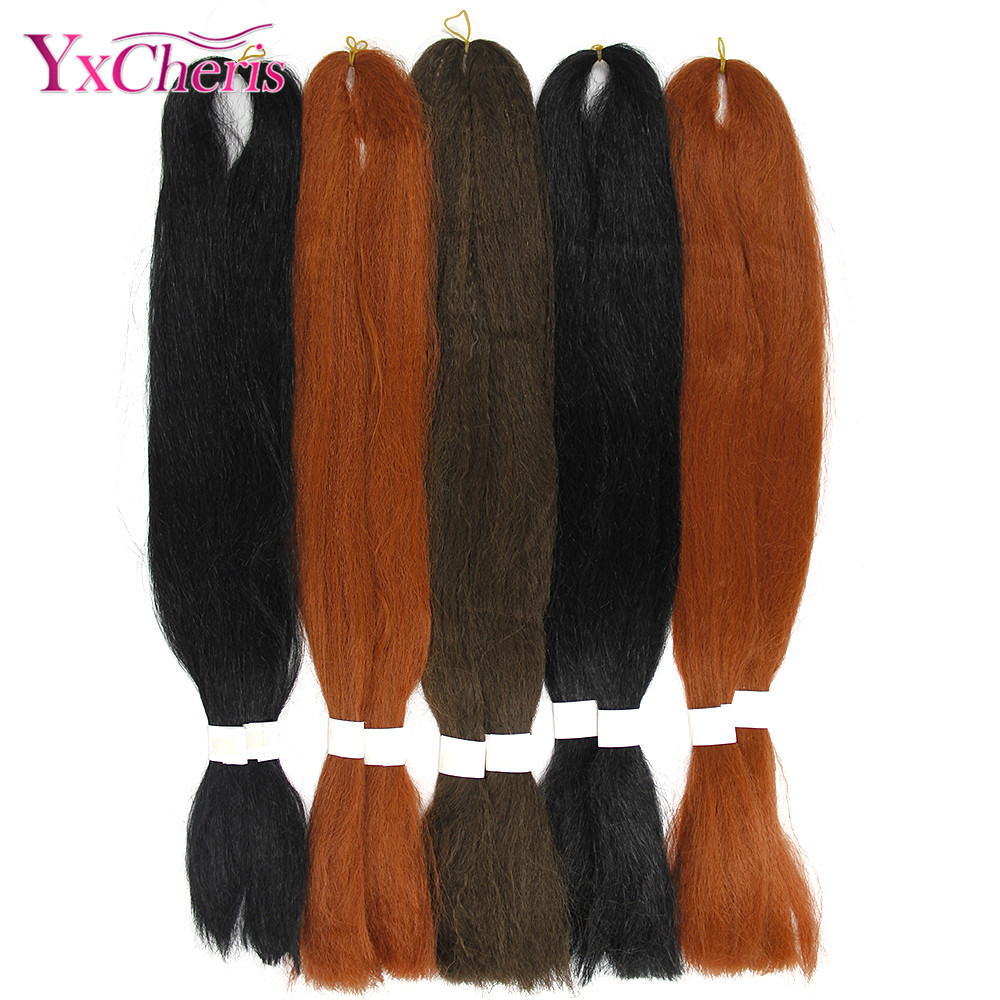 Hair Extensions & Wigs The Best Silky Jumbo Braids Hair Extensions 26 Inches 60g Synthetic Kanekalon Hair For Braiding Box Braids Bulk Hair