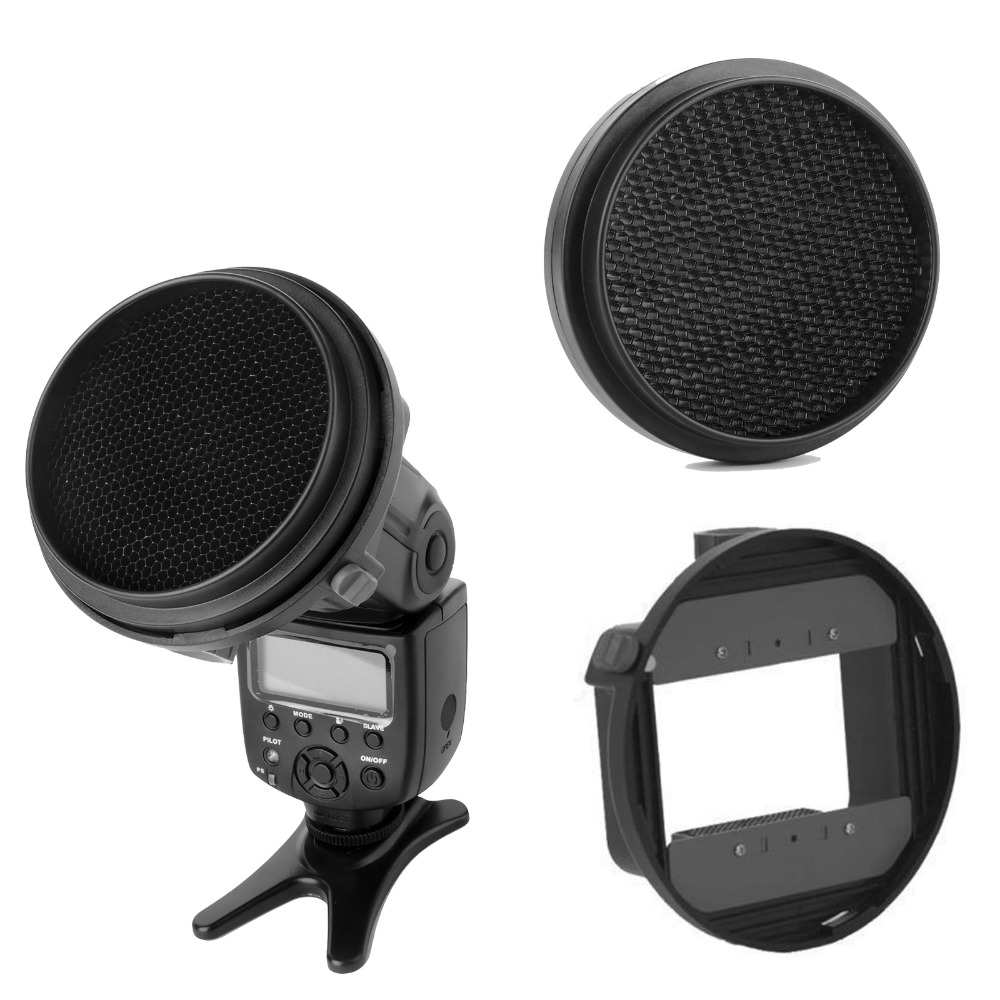 Universal Flash Adapter Mount CA SGU K9 HoneyComb Grid for Canon Nikon Sony Yongnuo Pentax Speedlite