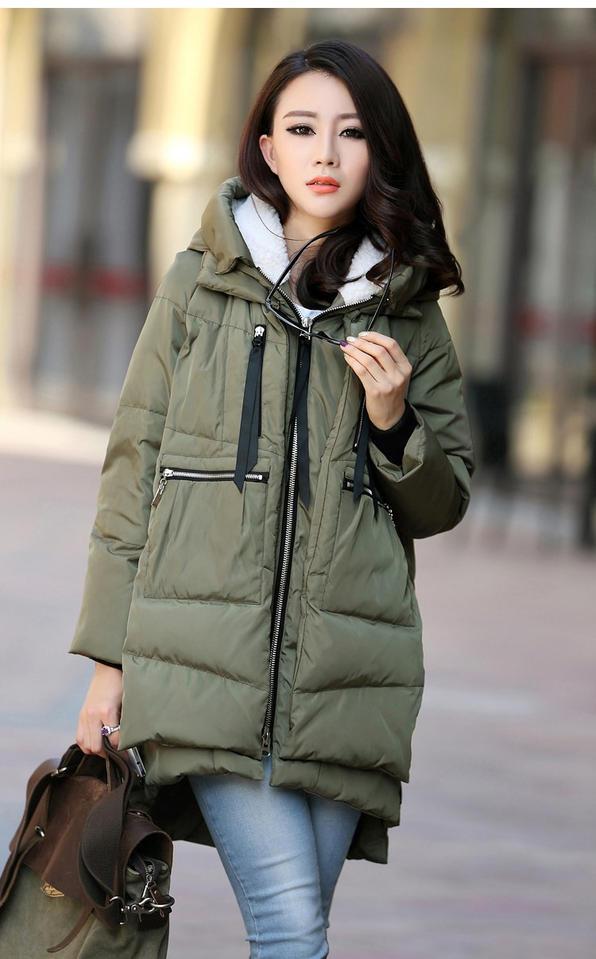 Orolay Industrie Plus Sizewinter black Europe Khaki Hauts Coton Longue Light Mode Femmes Solide Manteaux Sustans armygreen Militaire red Standard D'hiver q44CSRvn