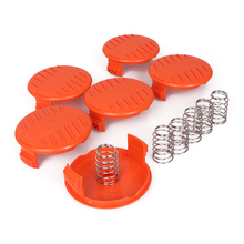 Weed Eater Spool Cap Covers Compatible with Black Decker String Trimmer Spool cap protects Spool Cap Covers 6 x Springs