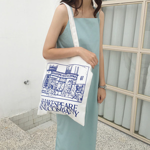 Image 3 - Youda Simple Ladies Canvas Bag Casual Large Capacity Printing Handbag Fashion Shoulder Bags Recycling Shopping Tote Pouch