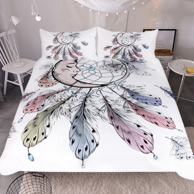 Crescent Moon Dreamcatcher Bedding Set