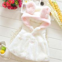 Outerwear Vest Coats Girls Clothes Baby Girl Hooded Rabbit Snowsuit Warm Flannel Cute Baby Girls