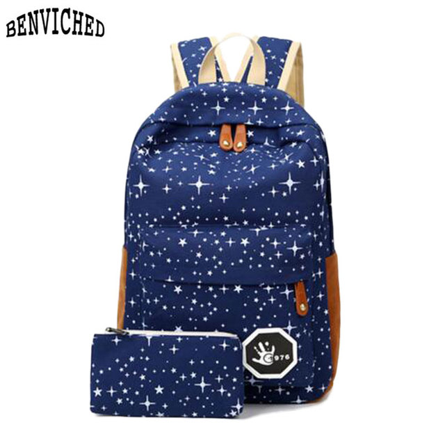 2017 Hot Sale Canvas Women backpack Big Capacity School Bags For ...