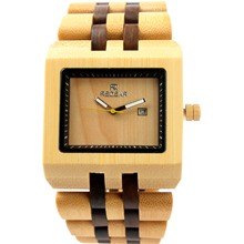 REDEAR Square Dial Wood Watches for Women Men's Wristwatches Japan Movement Quartz Wooden Watches Bamboo Watch Luxury Brand P25