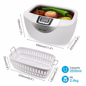 Image 3 - Numérique nettoyeur à ultrasons paniers bijoux montres dentaire 2.5L 60W 40kHz chauffage ultrasons nettoyeur de légumes à ultrasons bain