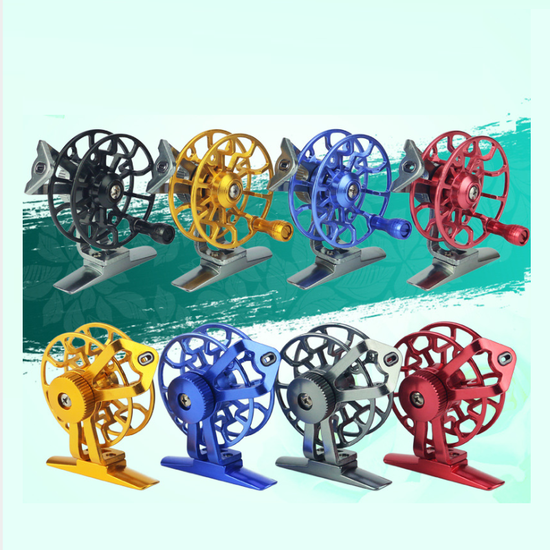 Fly Fishing reel Right hand Fish line wheel Front raft wheel Ice fishing reel Multi Colors are available Full aluminium alloy