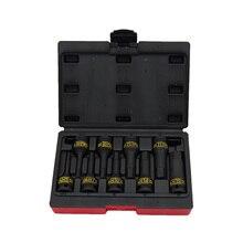 TAIWAN manufactur 9pcs impact hex sockets bit set H5-H19 auto repair tools sockets adaptor