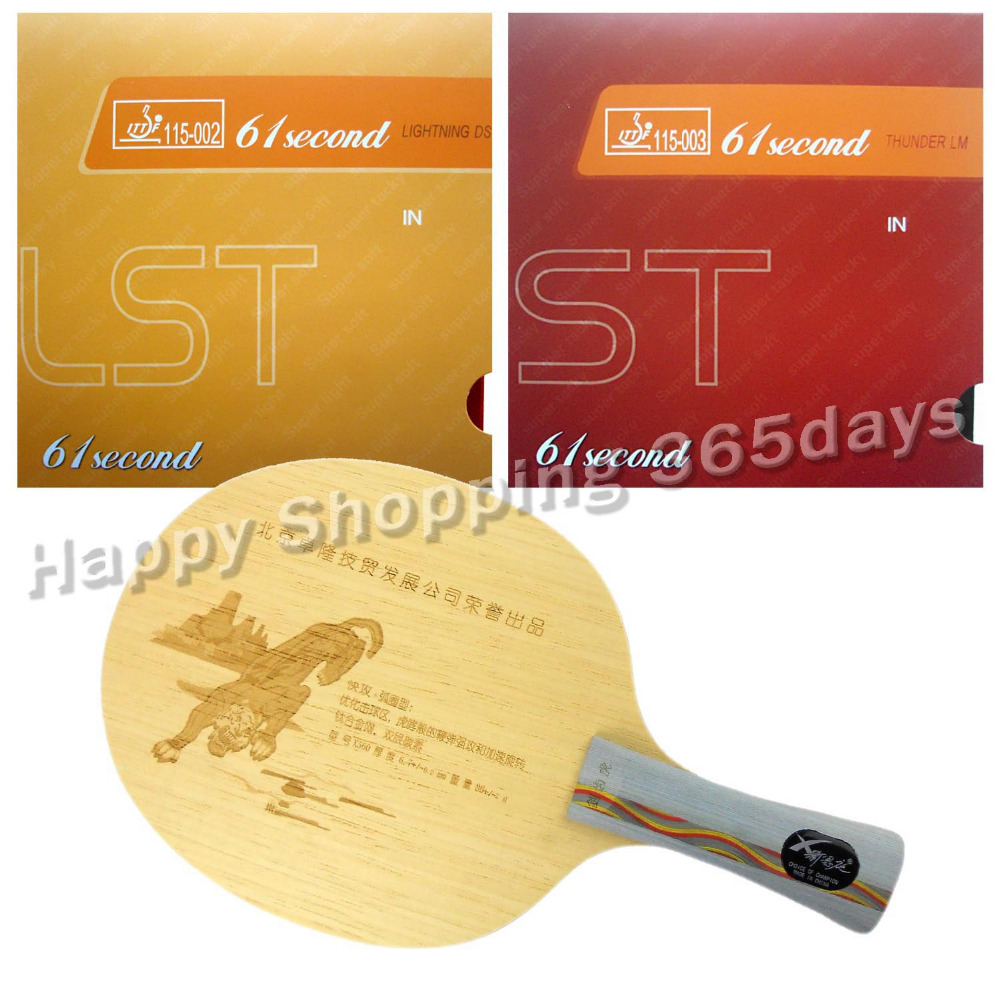 Pro Table Tennis PingPong Combo Racket XNT X560 with 61second DS LST and LM ST Shakehand long handle FL original yinhe defensive 980 table tennis blade with 61second ds lst and lm st rubbers sponge a racket shakehand long handle fl