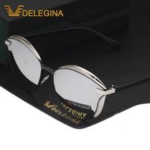 Polarized Sunglasses Women Cat Eye Glasses Mirror