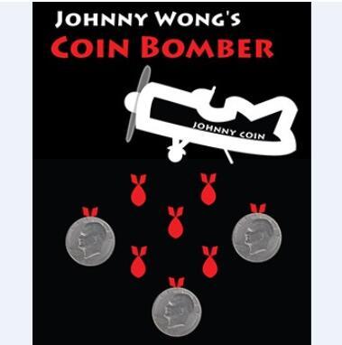 Coin Bomber (Morgan Coin Version) Tours de Magie Drôle Stade Pièce Magie Gimmick Illusion Mentalisme Professionnel Magiciens Magie Prop