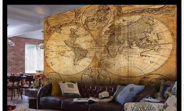 Customized 3d photo wallpaper for walls 3 d nostalgia complex customized 3d photo wallpaper for walls 3 d nostalgia complex ancient world map background wall 3d gumiabroncs Choice Image