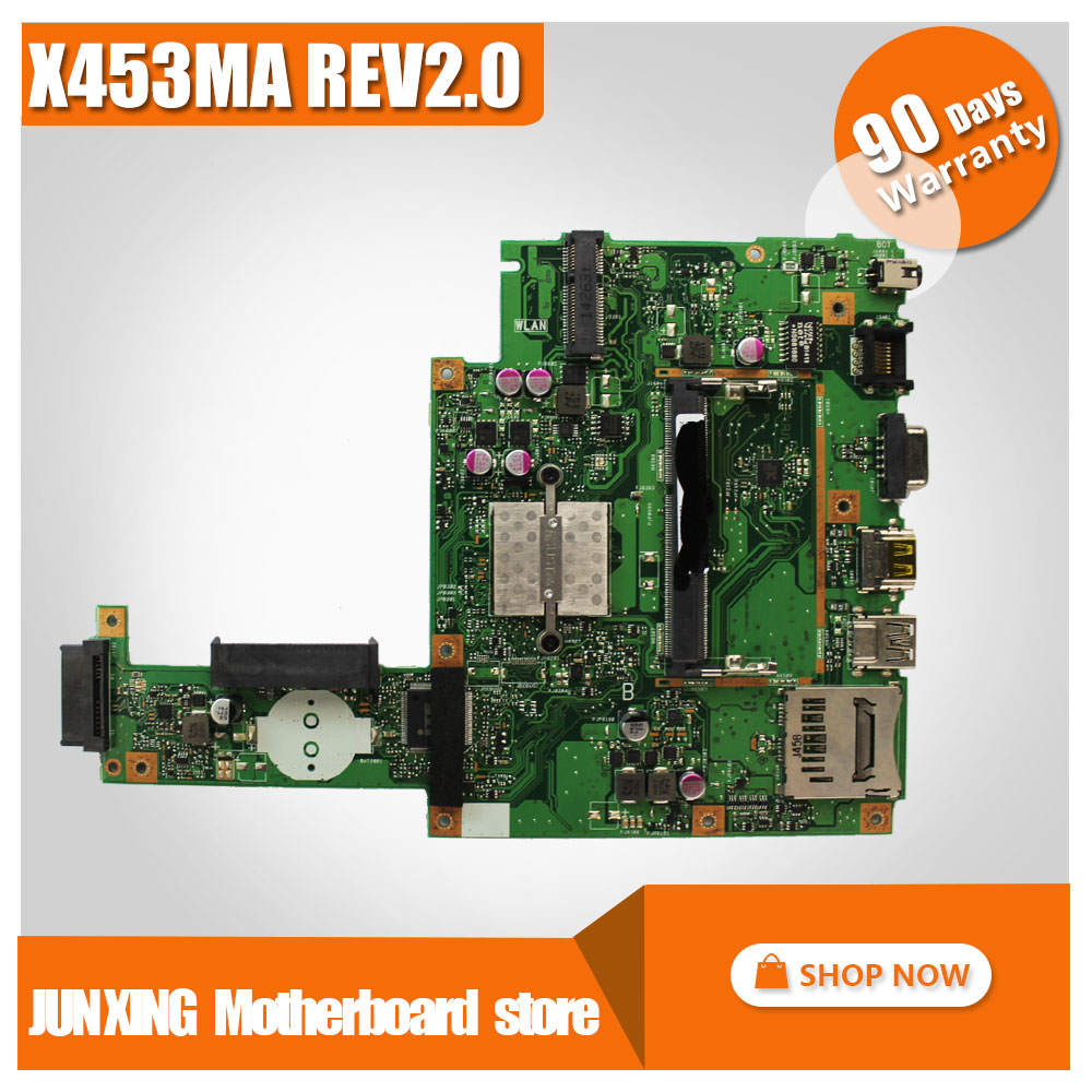SAMXINNO for ASUS X453MA X403MA motherboard Mainboard REV2.0 DDR3 100% Tested original new motherboard 60NB04W0-MB2000-200 original k53sv motherboard mainboard rev 2 3 rev 3 0 rev 3 1 fit for asus k53s a53s x53s p53s notebook n12p gs a1 gt540m