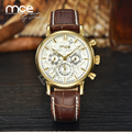 Top Quality MCE Waterproof Mechanical Watches Men Luxury Leather Strap Homens Business Automatic Wristwatches For Men 330