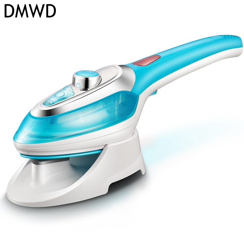 DMWD Household mini portable steam iron travel Hanging ironing machine  handheld hanging type electric iron strong steam 1000w portable garment steamer 1000w handheld clothes steam iron machine steam brush mini household ironing for for fabrics clothes