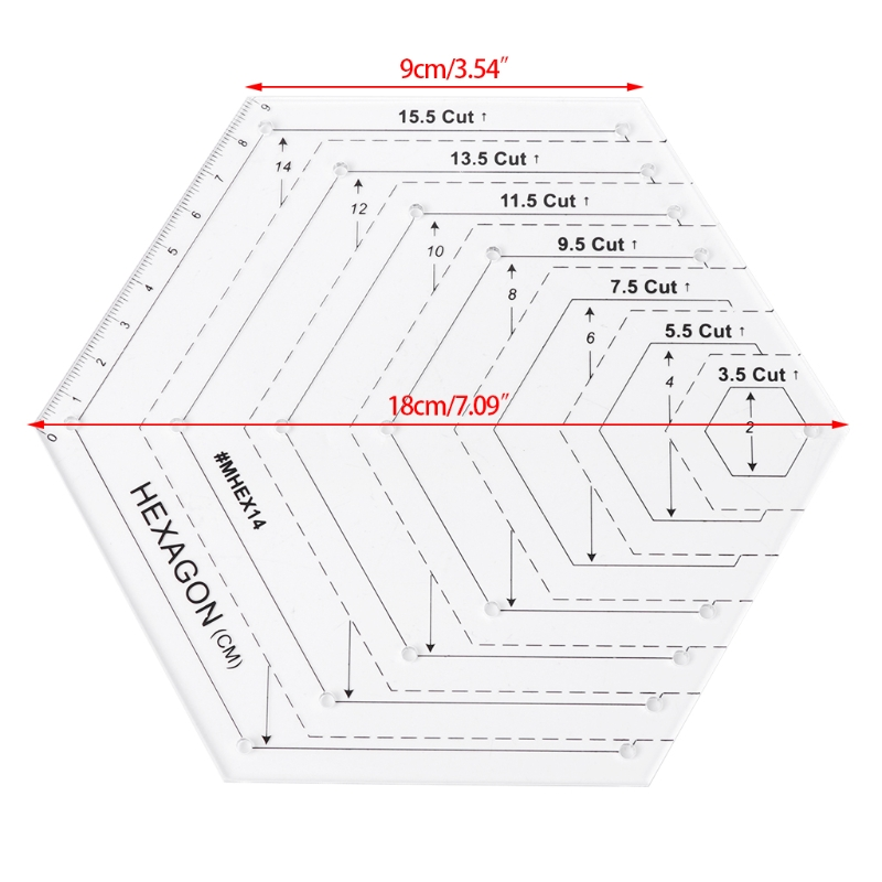 Aliexpress.com : Buy Hexagon Quilting Ruler Patchwork