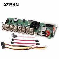 AZISHN 16CH 1080N Hi3521A DVR Carte Principale CCTV H.264 Réseau Vidéo enregistreur Hybride AHD/CVI/TVI/CVBS NVR 5 en 1 DIY VGA HDMI ONVIF