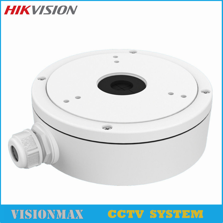 Hikvision CCTV Wall Mount bracket DS-1280ZJ-M Inclined Deep base Junction Box 2352 2385 Camera housing Security Accessories cctv bracket ds 1212zj indoor outdoor wall mount bracket suit for bullet camera s bracket ip camera bracket