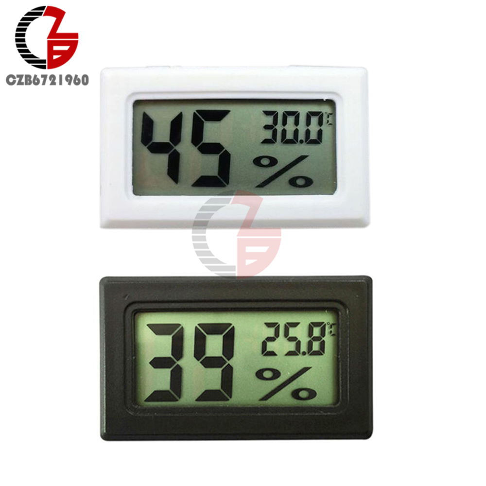 DC Mini LCD Digital Thermometer Hygrometer Temperature Humidity Sensor Meter Tester Detecor Gauge Indoor Outdoor Street Tool mini type humidity temperature meter handheld hygrometer thermometer tester