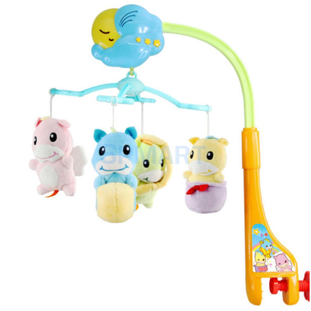 Baby Crib Bell Toy Toddler Mobile Nursery Rotatable Musical Bed Bell Newborn Infant Baby Toys baby toys baby mobile crib rabbit elephant musical box with holder arm music newborn rotating bed bell plush toy