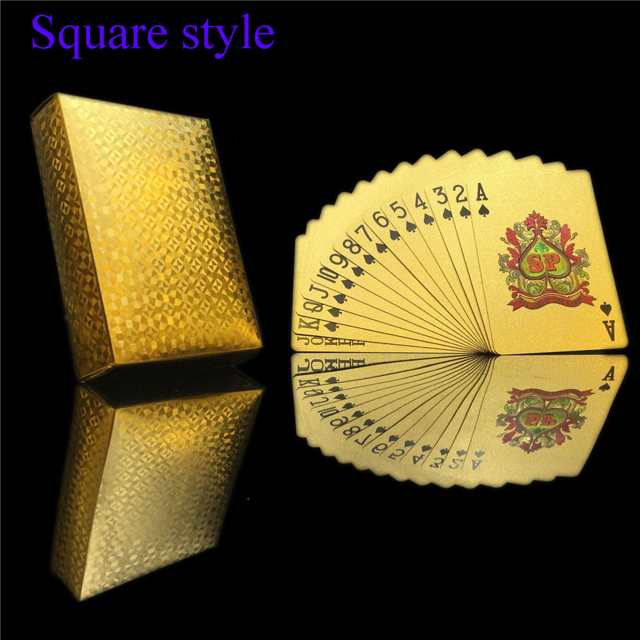 Washable 24K Golden Dragon Playing Cards PVC Waterproof 54pcs Poker Board Game Deck Durable Gold Plated Foil Poker Card Set (7)