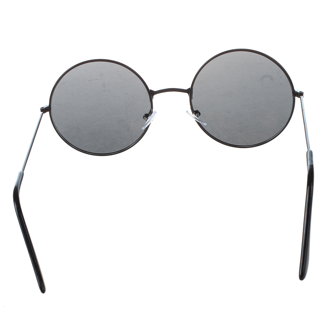 d6db22ef1 Trendy Men Women Metal Frame Black Lens Round Sunglasses Glasses Eyewear