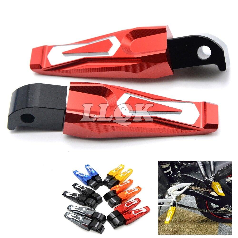 motorfiets achterste voetsteunen CNC fietsvoetsteun voetpedalen voor - Motoraccessoires en onderdelen