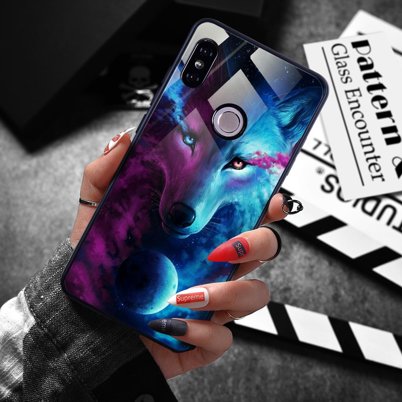 note 5 phone cases Tempered Glass Case For Xiaomi Redmi Note 5 5 Pro 5 Plus Note 4X Case Luxury Animal Pattern Case For Xiaomi Mi 8 A1 5X Coque (4)