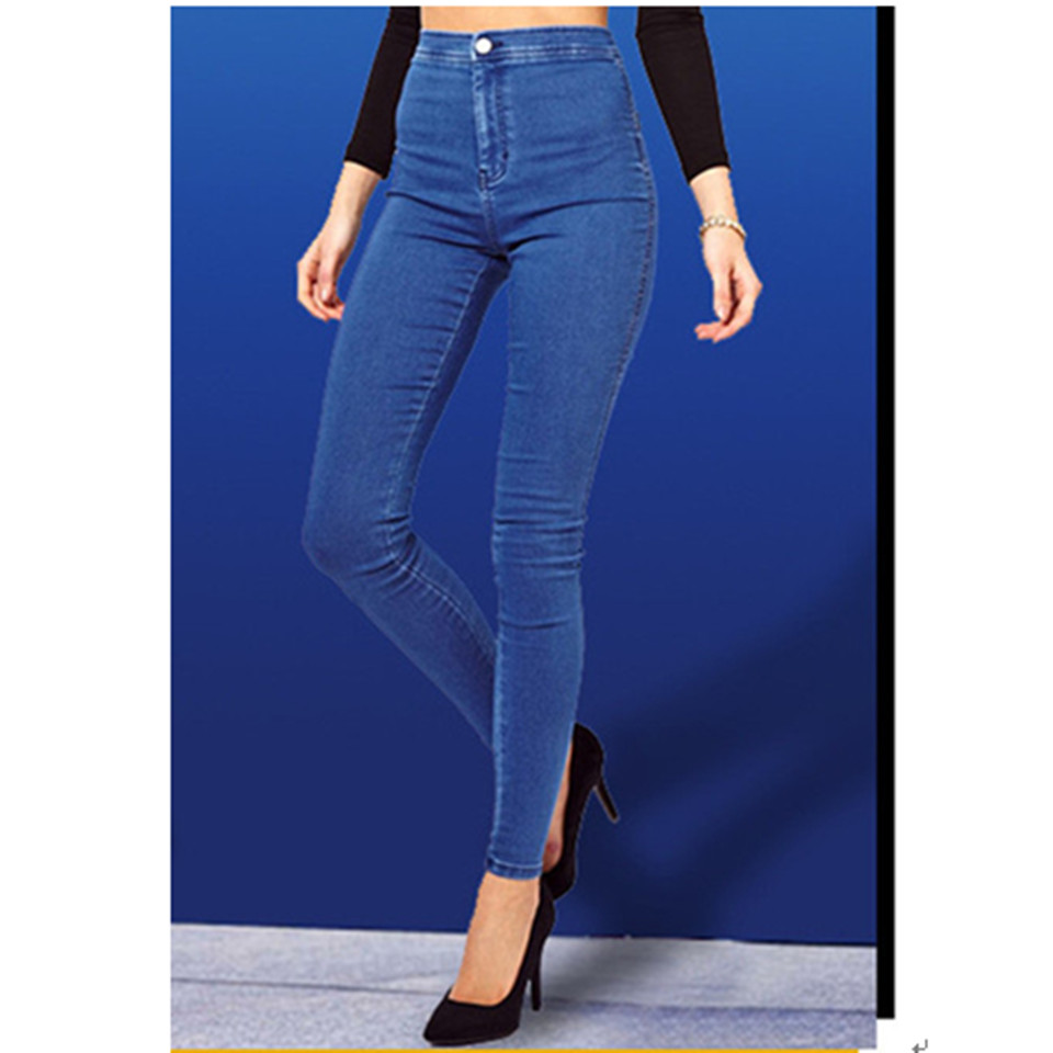 Free Shipping 2016 New Arrival Women Jeans Slim Stretch Pants Feet Jeans Lady Zipper Skinny Casual