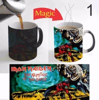 Video Game Iron Maiden Mugs Heat Changing Color Coffee Mug Heat Transfer Cup Ceramic Tea Cups