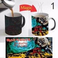 Video Game Iron Maiden Mugs Heat Changing Color Coffee Mug Heat Transfer Cup Ceramic Tea Cups