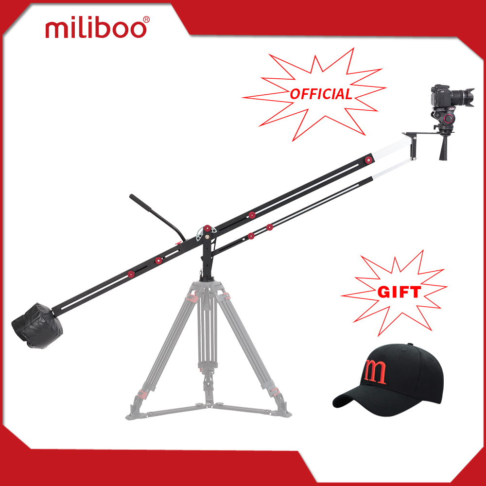miliboo MYB501 3.1m Aluminum Camera Crane Jib Arm Foldable Extanble Compact 75mm and 65mm Bowl Size for DSLR Camera Load 8 kg professional dv camera crane jib 3m 6m 19 ft square for video camera filming with 2 axis motorized head