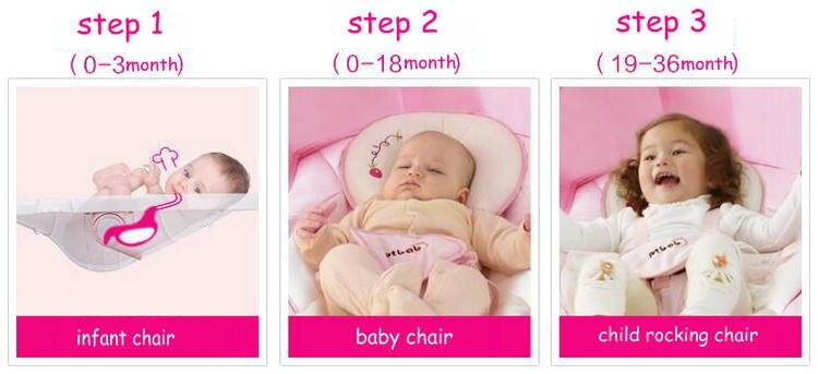 Infant Baby Elektrische Schaukelstuhl Verdicken Stahlrahmen Hoher