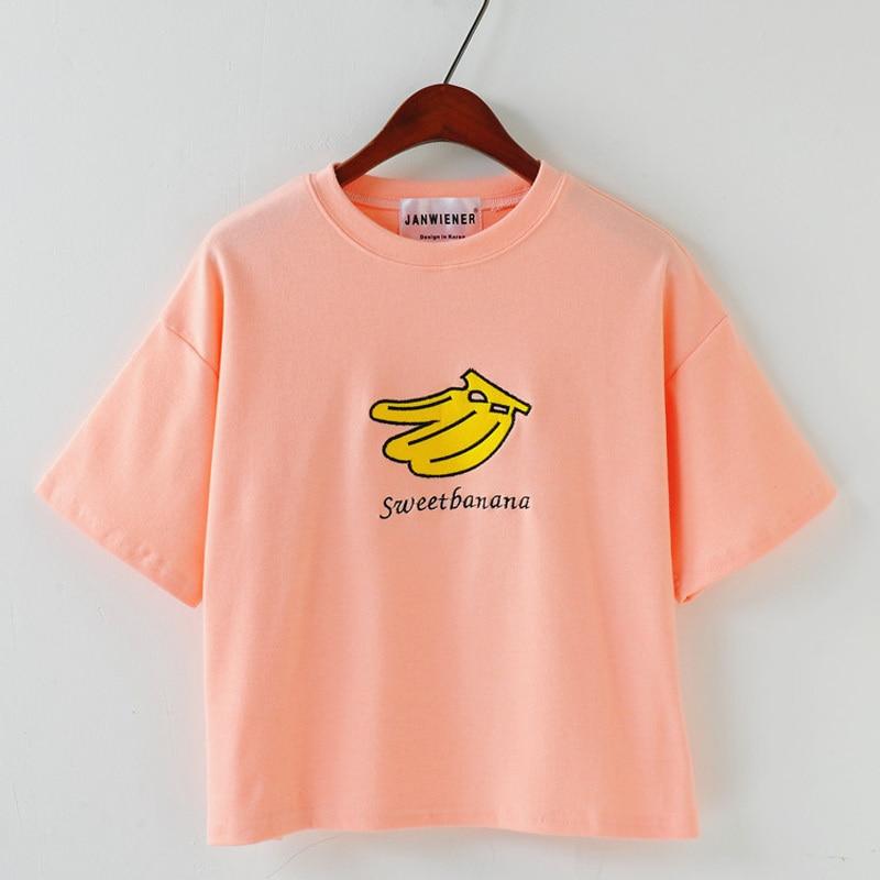 T Shirt Women Hot 2015 Fashion Crop Top Brand Style Sweet Banana