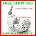 Бесплатная доставка USB STICK Реальная Емкость 4 Г 8 ГБ 16 ГБ 32 ГБ 64 ГБ 128 ГБ Сердце Pen Driver Подарков USB Flash Disk Ювелирные USB flash диск