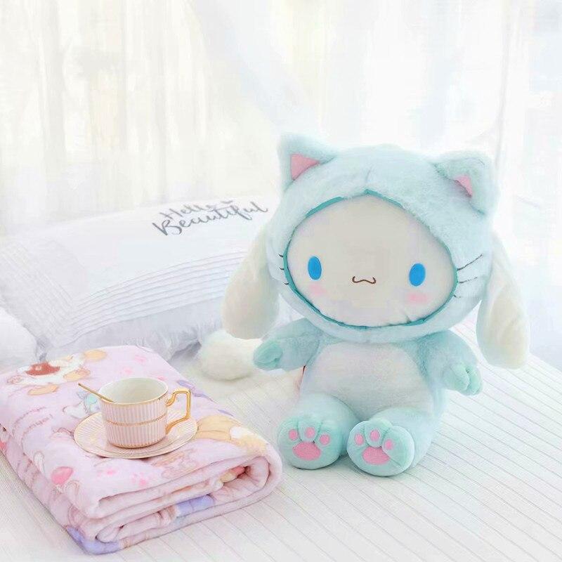 My Melody Cinnamoroll Pudding Dog Plush blanket Toy Soft Stuffed Animal Dolls For Kids Children Girls