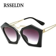 RSSELDN 2017 Fashion Cat Eye Sunglasses Women Brand Designer Vintage Round Sun Glasses UV400 Style Eyewear oculos de sol 6color