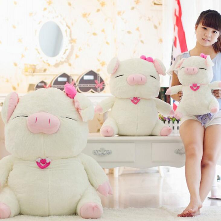 NEW* 40cm Lovely angel pig doll plush toy cute doll Standing pig pillow dolls lovers Christmas gift Pink Lazy Pig High quality