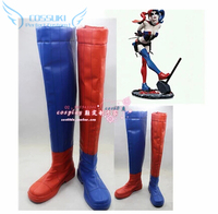 Newest High Quality Suicide Squad Harley Quinn Cosplay Boots Shoes Professional Handmade Perfect Custom For You