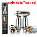 100% auténtico aspire cleito cigarett electrónica tanque atomizador 3.5 ml reemplazable bobina/bobina aspire cleito 0.4ohm 0.2ohm yy
