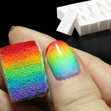 Nail Buffer Nail Art Tools Gradient Nails Soft Sponges for Color Fade Manicure 16pcs/lot DIY Buffers Nail Accessories Supply стоимость