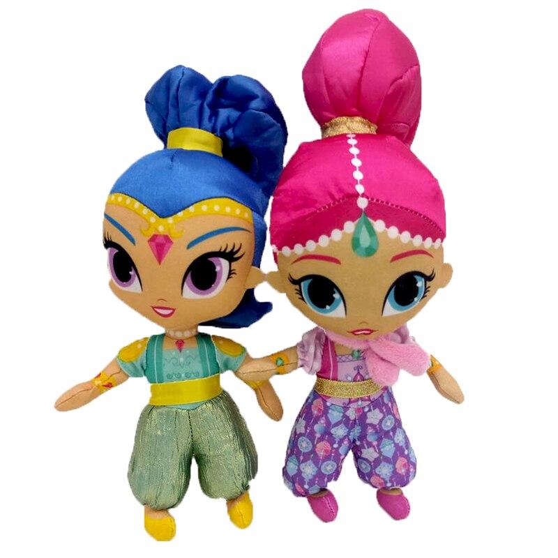 Cute Stuffed Dolls Shine GirlAuthentic Shimmer Sister Plush Toys For Children GiftForeign Trade Plush Dolls Wishes Genie Littl